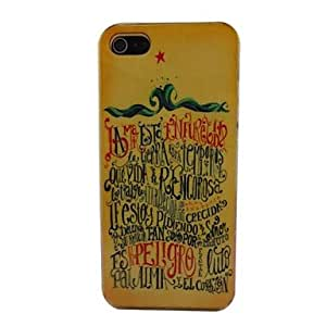 GJY Beautiful Words Pattern PC Back Case for iPhone 5