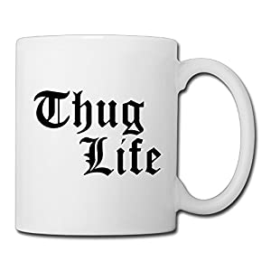 Christina Thug Life Logo Ceramic Coffee Mug Tea Cup White
