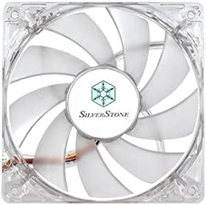 Silverstone Tek 120mm High Airflow and Less Noise with 9-Bladed Design Computer Case Fan with Blue LED Cooling, Blue FN121-P-BL