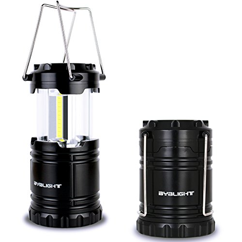 Pack of 2 Lantern Flashlights, BYBLIGHT 2 in 1 Camping Lantern and Flashlights with 3 Modes, High Output Bright for Hiking, Camping, and Emergencies (lantern)