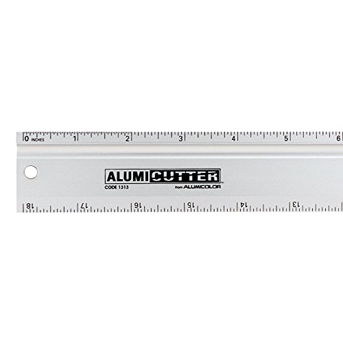 Alumicolor Alumicutter, Safety Ruler and Straight Edge, Aluminum, 12 inches, Silver ()