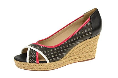 Geox D62N7B 08502C0048 - Zapatos de vestir de Piel para mujer Negro - negro