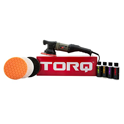 TORQ BUF502X TORQ22D Random Orbital Polisher Kit (Polisher + 8 Items)
