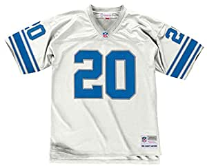 Barry Sanders Detroit Lions White 1996 Mitchell & Ness Throwback Jersey (M)