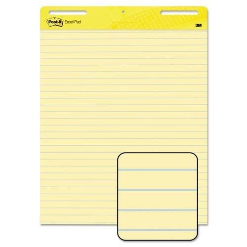 (3M 561 Self-Stick Easel Pads, Ruled, 25 x 30, Yellow, 2 30-Sheet Pads/Carton)