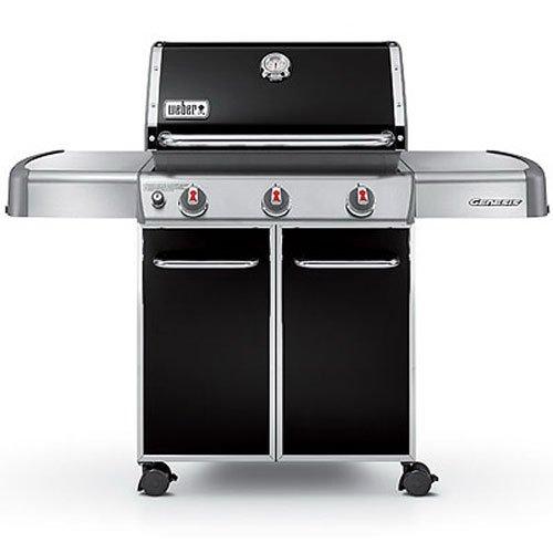 Weber Genesis 6511001 E-310 637-Square-Inch 38,000-BTU Liquid-Propane Gas Grill, Black