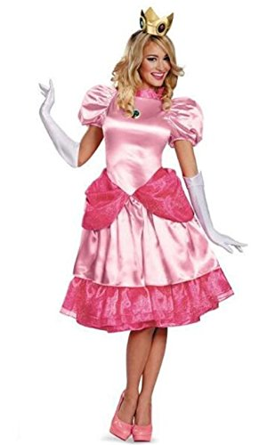 Princess Peach Costume Male (HBMaida Women's Bros.Princess Peach Deluxe Costume)