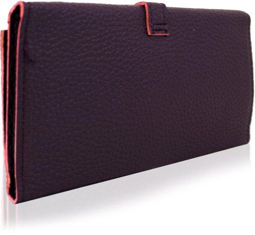 Yufashion - Cartera de mano de cuero para mujer Medium púrpura - morado