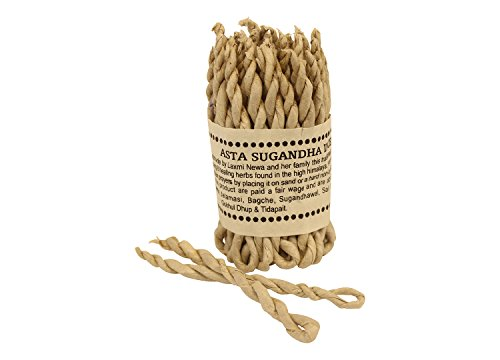 Rope Incense (Nepali Rope Incense Organic Ayurvedic Herbs Hand Rolled from Nepal)