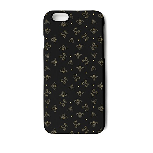 IPhone 6 Plus/IPhone 6s Plus Case Bees On Black Background Bumper Matte TPU Soft Rubber Silicone Protective Back Cover