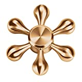 Fidget Spinner Toy Hand Finger Spinner Hexagon Fast Bearings EDC ADHD Focus Anxiety Relieves Stress and Anxiety for Children Adults (Gold)