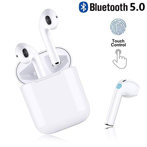 Bluetooth Earbuds,I11 White Wireless Earbuds in Ear Headphones Noise Cancelling Headset Compatible with iPhone XR X 8 8p 7 7P, Samsung Galaxy S9 Huawei & Other Apple Airpods Android/iPhone(White)