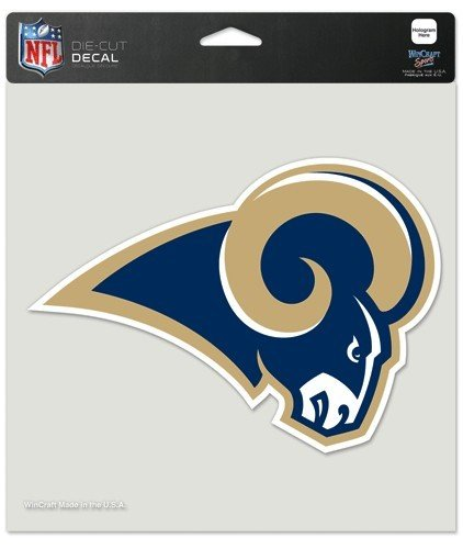 WinCraft NFL St. Louis Rams Perfect Cut Color Decal, 8