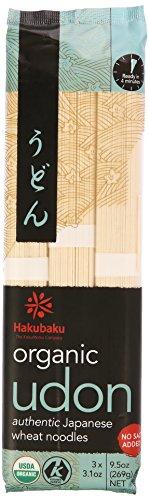 Organic Udon Noodles - Hakubaku Organic Udon Wheat Noodle (1 x 9.5 OZ)