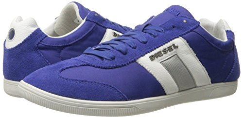 Diesel Happy Hours Vintagy Lounge Azul Hombres Ante Blanco Trainers Zapatos