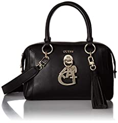 Gracelyn Satchel in pebble pu with charm and tassel detail
