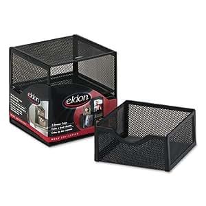 ELDON OFFICE PRODUCTS FG9E5600BLA Organization Two-Drawer Cube, Wire Mesh, Storage, 6 x 6 x 6, Black