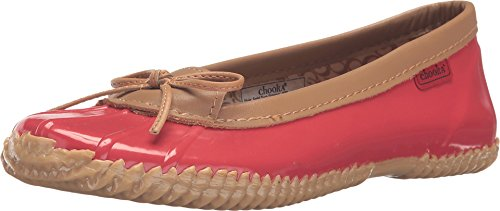 Chooka Women's Duck Skimmer Ballet Flat, Red, 9 M - Skimmers Rain