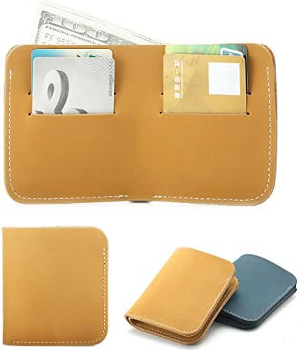 Zenpy Fashion Minimalism Wallet Genuine Leather Card Holder Slim Wallet Multiple Slots for Money, ID, Tickets, Cards