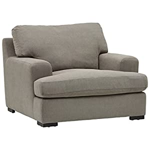 Amazon Brand – Stone & Beam Lauren Down-Filled Oversized Living Room Accent Armchair with Hardwood Frame, 46″W, Slate