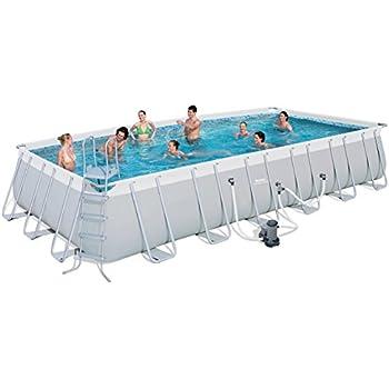 Bestway 24 39 X12 39 X52 Rectangular Frame Above Ground Swimming Pool Set 56542e