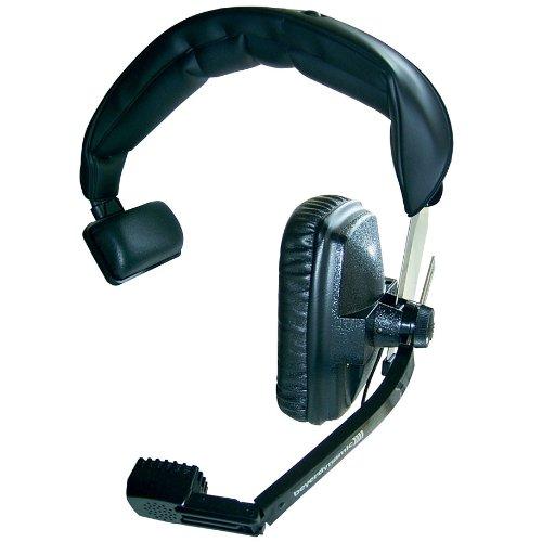 Beyerdynamic DT-108-200-50-BLACK – Auriculares de diadema con micrófono hipercardioide dinámico, 50 ohmios, color negro, negro