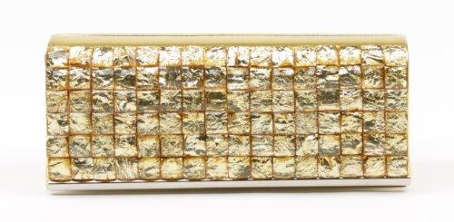 Scarleton Rhinestone Flap Clutch H301118 – Gold, Bags Central