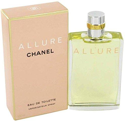 Chânel Allure Eau De Toilette Spray for Woman, EDT 3.4 Ounces 100 ML