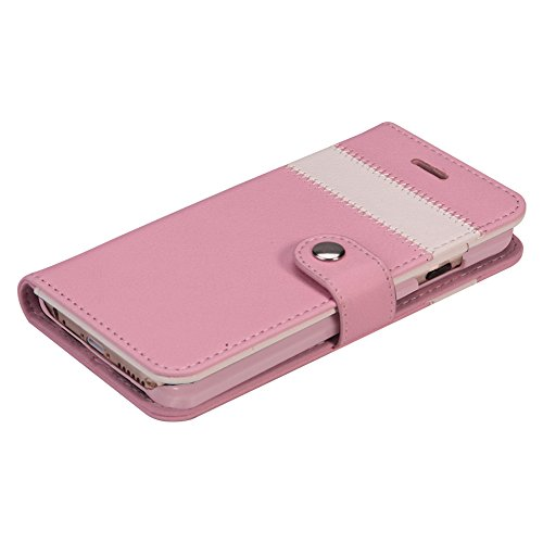 AceAbove iPhone 6S Wallet Case, Premium PU Leather Wallet Cover with [Card Slots] & [Stand] Function for Apple iPhone 6 (2014)/iPhone 6S (2015) – Pink by AceAbove (Image #4)