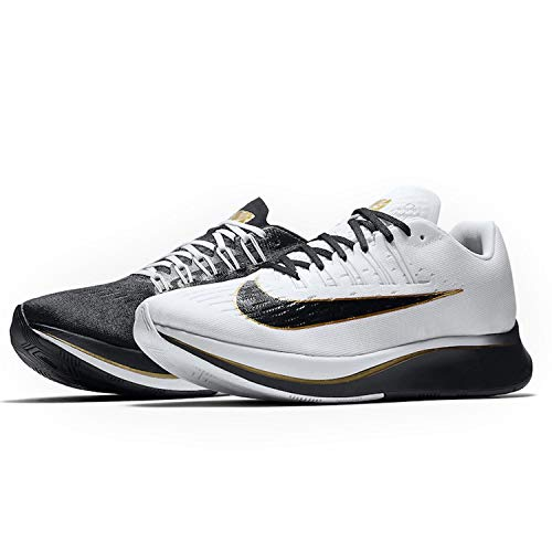 656f2fe3d179f6 Nike Men s Zoom Fly Running Shoes-Black White Metallic Gold-8