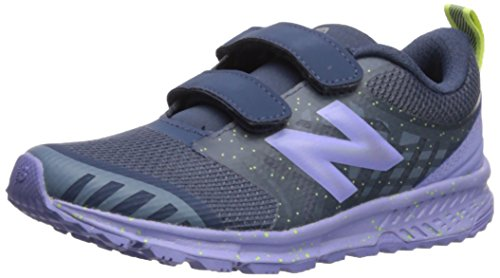 (New Balance Girls' Nitrel v3 Hook and Loop Trail-Runners, Vintage Indigo/Ice Violet, 13.5 M US Little)