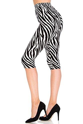 Zebra Print Yoga Pants - 6