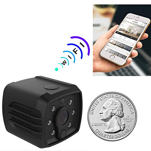 Mini Spy Camera WiFi Hidden – Nanny Cam for Home Security, Wireless with Cell Phone App for Video on Device. Night Vision 140 Degree View. Indoor Motion Detector. HD 1080P, Recorder, USB Charger.