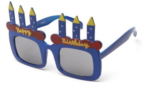 Kyra Kids Happy Birthday Cake Candles 4 Packs Shaped Party Sunglasses Fun Boys Girls Birthday Props