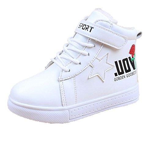 Covermason Winter Kinder Baby Jungen Mädchen Martin Stiefel Sneakers Schuhe Weiß
