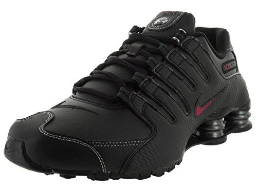 Nike Herren Shox NZ EU Laufschuhe Schwarz / Varsity Rot / Weiß / Anthrazit