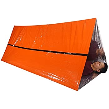 Better Outdoor Emergency Survival Reflective Cold Weather Shelter Tube Tent - XL SIZE Fits 2 Adults  sc 1 st  Amazon.com & Amazon.com: SE ET3683 Emergency Outdoor Tube Tent with Steel Tent ...