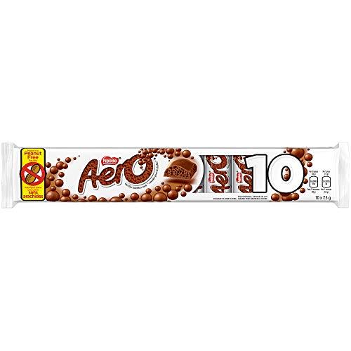 AERO Milk Chocolate Mini Bars, 10 x 7.3g (Pack of 10 mini bars)