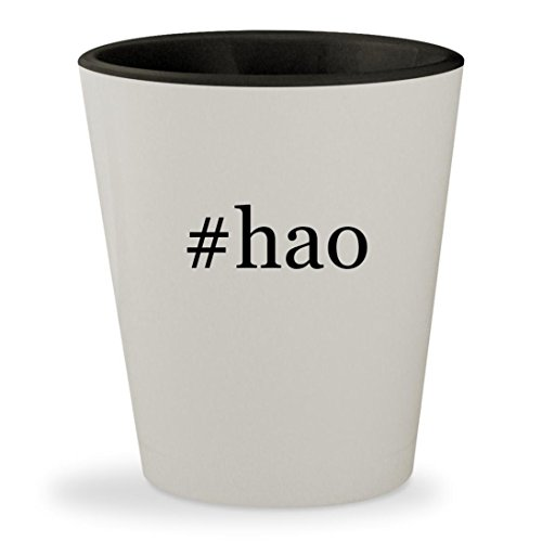 #hao - Hashtag White Outer & Black Inner Ceramic 1.5oz Shot Glass