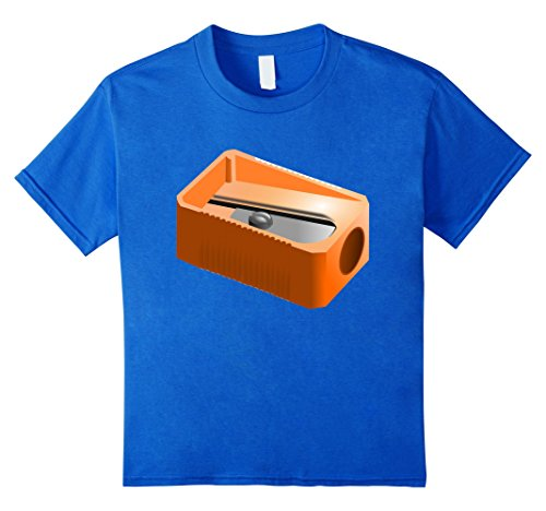 Kids Pencil Sharpener Funny Office School Supplies Costume Shirt 4 Royal Blue