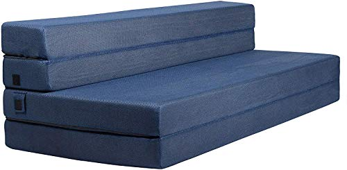 Milliard Tri-Fold Foam Folding Mattress and Sofa Bed for Guests – Queen 78x58x4.5 Inch