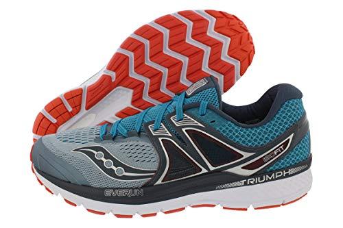 Saucony Men's Triumph ISO 3 Running Shoe, Grey/Blue/Re, 11.5 M US