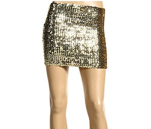 Cheryl Creations Women's Short Sequin Comfortable Day/Night Tube Mini Skirt - Skirt Mini Sparkle