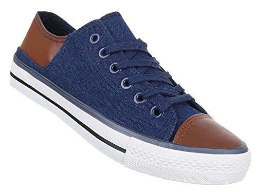 Herren-Schuhe Sneaker | sportliche Freizeitschuhe mit Schnürung in verschiedenen Farben und Größen | Schuhcity24 | Low Top Schnürer Blau
