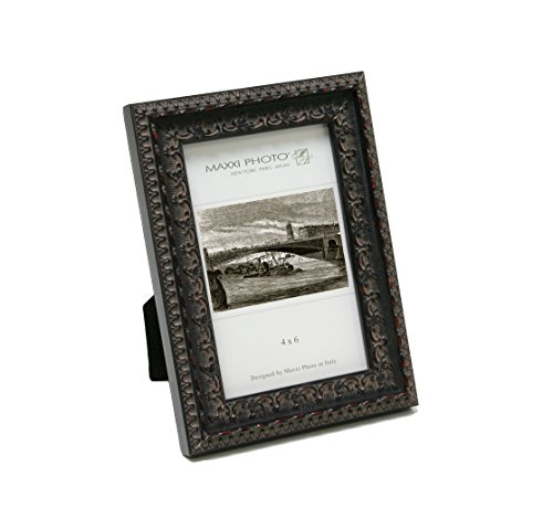 Maxxi Designs Photo Frame with Easel Back, 5 x 7'', Dark Antique Mahogany Casa Bella by Maxxi Designs