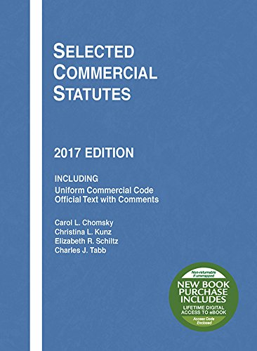 Selected Commercial Statutes: 2017 Edition (Selected Statutes) cover