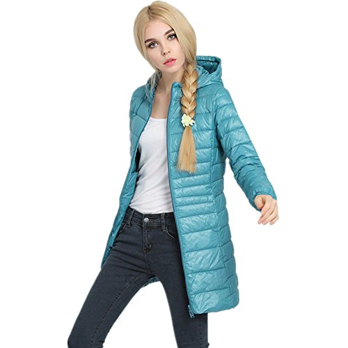 Lightweight Pillow Lake LJYH Down Powder Down Outwear Jackets Women's Coat Blue Packable nq07IqS