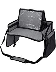 Vorspack Kids Travel Tray with No-drop Tablet Stand Car Seat Tray for Road Airplane Trip
