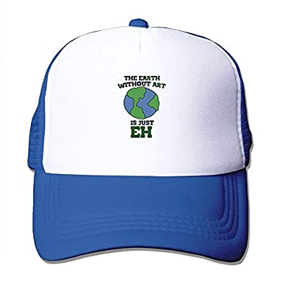 Art Earth Baseball Cap Adjustable Snapback Mesh Trucker Hat by BHUIA