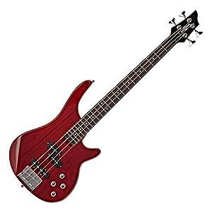 Chicago 3/4-Bassgitarre von Gear4music Trans Red